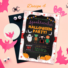 Load image into Gallery viewer, Aspire Designs Personalised Kids Halloween Invitations | Trick or Treat Party 10 / Yes / Design 4