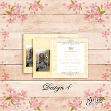 Load image into Gallery viewer, Personalised Kids Princess Birthday Thank You Cards With Photo