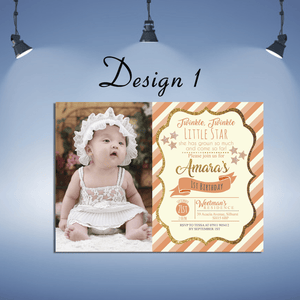 Aspire Designs Personalised Kids Sparkling Invitations Cards | Glitter Party Invites 10 / Yes / Design 1