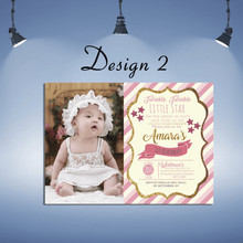 Load image into Gallery viewer, Aspire Designs Personalised Kids Sparkling Invitations Cards | Glitter Party Invites 10 / Yes / Design 2