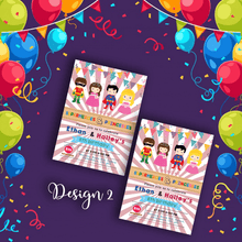 Load image into Gallery viewer, Aspire Designs Personalised Kids Superhero and Princess Birthday Party Invitations 10 / Yes / Design 2