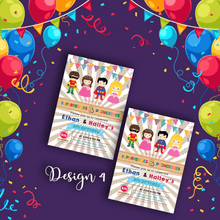 Load image into Gallery viewer, Aspire Designs Personalised Kids Superhero and Princess Birthday Party Invitations 10 / Yes / Design 4