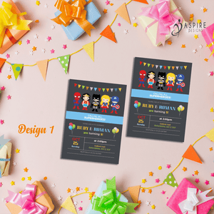 Pack Of 16 A6 Boys Birthday Invite Party Invitations With Fun Football Design