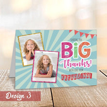 Load image into Gallery viewer, Aspire Designs Personalised Kids Thank You Cards with Childrens Photos | Pack of A6 (Folded) 1 / No / Yes