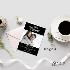 Aspire Designs Personalised Luxury Engagement Party / Announcement Invitations 10 / Yes