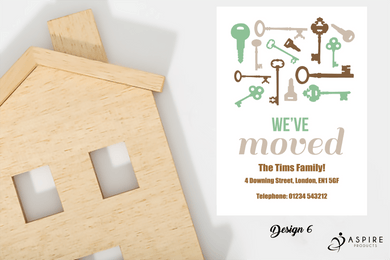 Aspire Designs Personalised Luxury New Home Announcement Change of Address Cards Yes / 10
