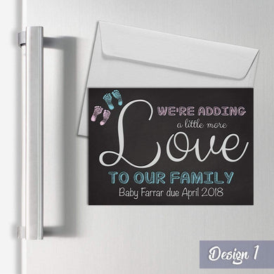 Aspire Designs Personalised Magnetic Pregnancy Announcement Cards A6 Fridge Magnets 1 / Yes