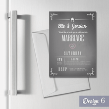 Load image into Gallery viewer, Aspire Designs Personalised Magnetic Wedding Invitations - A6 Fridge Magnets 1 / Yes