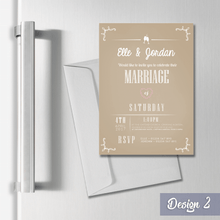 Load image into Gallery viewer, Aspire Designs Personalised Magnetic Wedding Invitations - A7 Fridge Magnets 1 / Yes
