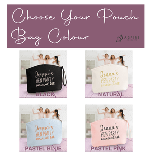 Aspire Designs Personalised Make Up Bag | Accessory Cosmetic Pouch Bag | Hen Party Theme