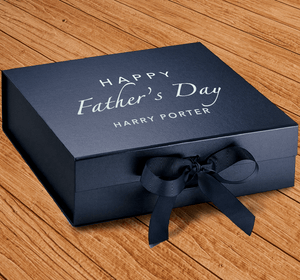 Aspire Designs Personalised Medium / Large Gift Box | Classic Father's Day Present Keepsake Box Medium / Navy