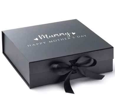 Aspire Designs Personalised Medium / Large Gift Box | For Mummy Mother's Day Present Keepsake Boxes Medium / Black
