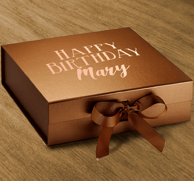Aspire Designs Personalised Medium / Large Gift Box | Happy Birthday Present Keepsake Boxes Medium / Copper