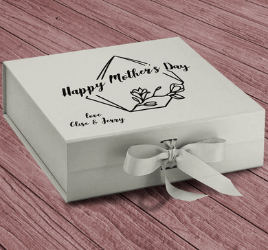 Aspire Designs Personalised Medium / Large Gift Box | Happy Mother's Day Present Keepsake Box Medium / Silver