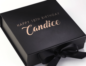 Aspire Designs Personalised Medium / Large Gift Box | Simple Birthday Present Keepsake Boxes