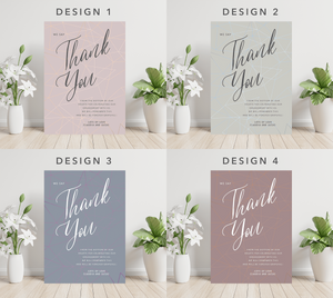 Personalised Minimalist Typography Engagement Party Thank You Cards