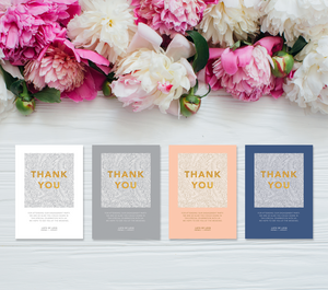 Aspire Designs Personalised Modern Classic Engagement Party Thank You Cards 10 / Yes / Design 1