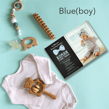 Load image into Gallery viewer, Aspire Designs Personalised Modern Photo Christening | Baptism | Naming Day Invitations 10 / Yes / Blue (Boy)