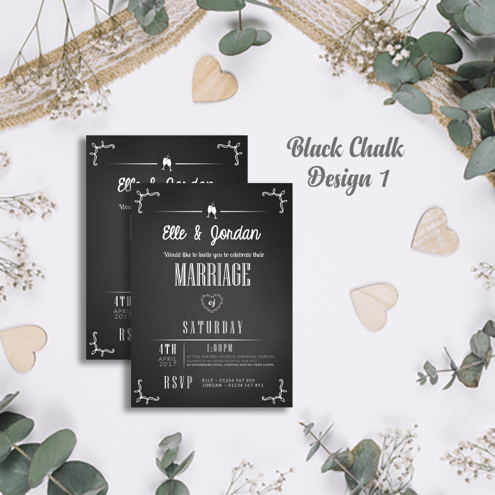 Personalised Modern Wedding Invitations | Marriage Invite Cards