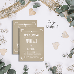 Aspire Designs Personalised Modern Wedding Invitations | Marriage Invite Cards 10 / Yes / Design 2