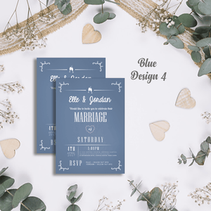 Aspire Designs Personalised Modern Wedding Invitations | Marriage Invite Cards 10 / Yes / Design 4