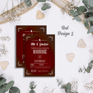 Aspire Designs Personalised Modern Wedding Invitations | Marriage Invite Cards 10 / Yes / Design 5