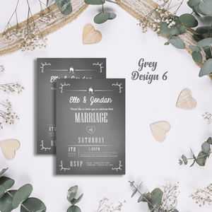 Aspire Designs Personalised Modern Wedding Invitations | Marriage Invite Cards 10 / Yes / Design 6