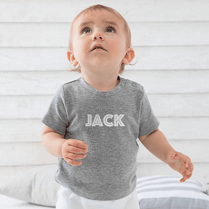 Aspire Designs Personalised Name T-Shirt, Gift Idea Tee Top for Babies Toddlers - Boys or Girls