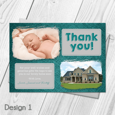 Personalised New Baby New Home Thank You Cards