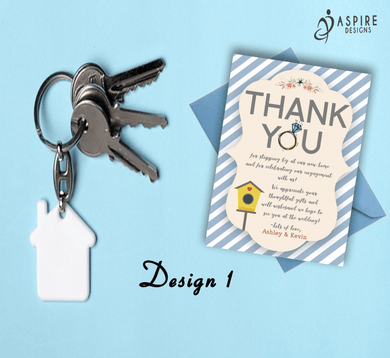 Aspire Designs Personalised New Home and Engagement Thank You Cards 10 / Yes / Design 1