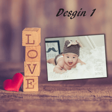 Load image into Gallery viewer, Aspire Designs Personalised Newborn Photo Thank You Cards | New Baby Cards 10 / Yes / Design 1