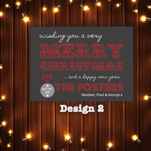 Load image into Gallery viewer, Aspire Designs Personalised Pack of Christmas Cards | Merry Christmas Postcards 10 / Yes / Design 2