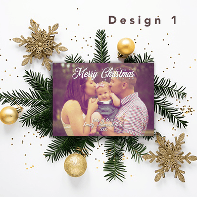 Aspire Designs Personalised Photo Christmas Cards | Merry Christmas Postcards 10 / Yes / Design 1