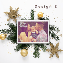 Load image into Gallery viewer, Aspire Designs Personalised Photo Christmas Cards | Merry Christmas Postcards 10 / Yes / Design 2