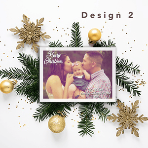 Aspire Designs Personalised Photo Christmas Cards | Merry Christmas Postcards 10 / Yes / Design 2