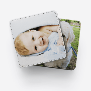 Aspire Designs Personalised Photo Coasters | Ceramic, MDF or Leather Options | Birthday Gift