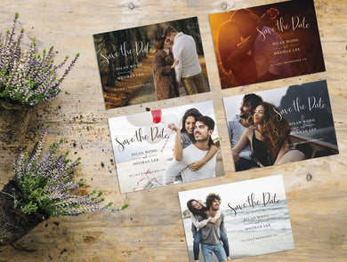 Aspire Designs Personalised Photo Wedding Save The Date Cards Design 1 / 10 / Yes
