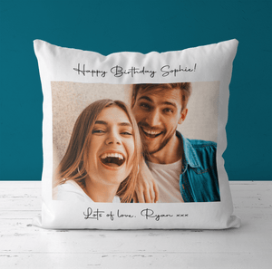 Aspire Designs Personalised Photo / Wording Cushion Pillow Case & Insert | Pillowcase Cover Yes / Single Sided