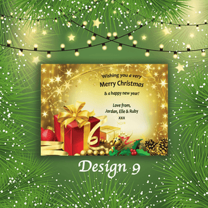 Aspire Designs Personalised Present Merry Christmas Cards Xmas Postcards 10 / Yes