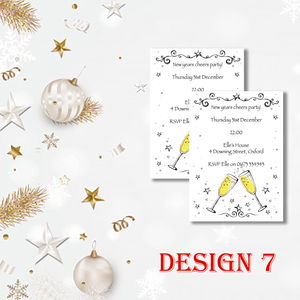Aspire Designs Personalised Prosecco New Years Eve Party Celebration Invitations 10 / Yes