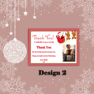 Aspire Designs Personalised Santa Christmas Xmas Thank You Festive Cards 10 / Yes