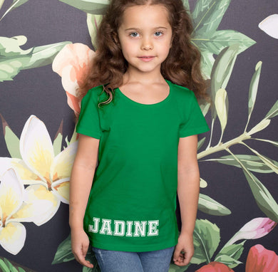 Aspire Designs Personalised Simple name T-Shirt, Gift Idea Tee Top for Kids - Boys or Girls