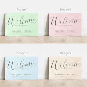 Aspire Designs Personalised Simple Theme Wedding Welcome Board | A1, A2 & A3