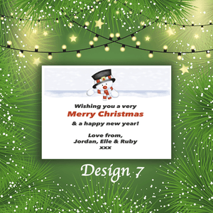Aspire Designs Personalised Snowy Merry Christmas Cards Xmas Postcards 10 / Yes
