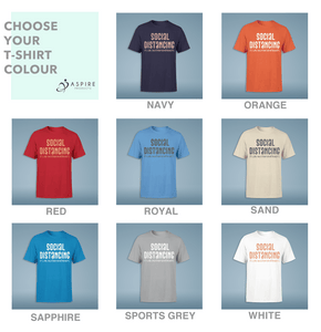 Aspire Designs Personalised Social Distancing Introvert Men's T-Shirts