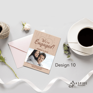 Aspire Designs Personalised Stunning Engagement Party / Announcement Invitations 10 / Yes
