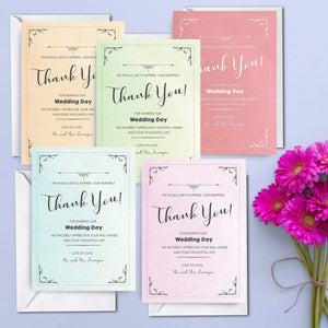 Personalised  Thank You Cards | Thank You Note with Envelope
