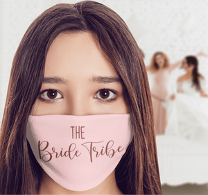 Aspire Designs Personalised 'The Bribe Tribe' Face Mask Washable Protective Covering Small (Child / Ladies) 10x15cm