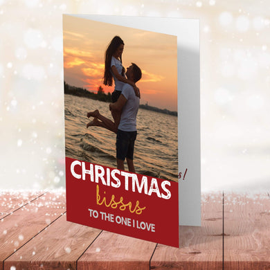 Aspire Designs Personalised To The One I Love Photo Christmas Card | Husband Wife Partner