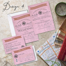 Load image into Gallery viewer, Aspire Designs Personalised Travel Destination Wedding Invitation Set | Day/Evening Invite, RSVP & Info Cards 10 / Yes / Invitation Only